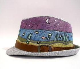 Hand Painted Hats - Aquarium