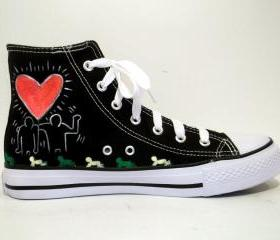 Hand Painted Sneakers - Love