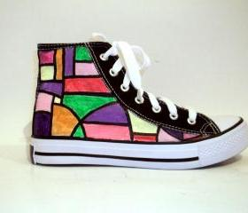 Hand Painted Sneakers - Street Shape