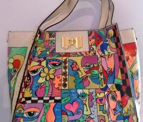 Hand-painted Handbag